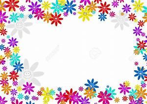 Colourful Decorative Cartoon Floral Flower Frame Border ...