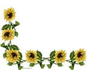 design wedding ring free sunflower corner border clipart image 8635