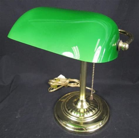Bankers Lamp Green Ebay by Vintage Brass Amp Green Glass Shade Bankers Desk Lamp Ebay