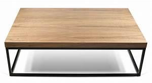 Made Table Basse : table basse wallnut noyer rectangulaire noyer pied ~ Melissatoandfro.com Idées de Décoration