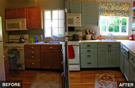 budget friendly before and after kitchen makeovers diy kitchen makeover bob vila