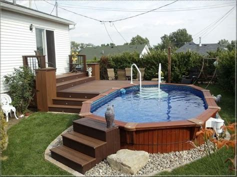 Backyard Swimming Pools Above Ground by Best 25 Oval Above Ground Pools Ideas On