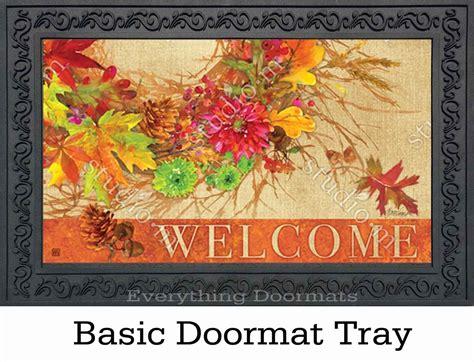 Autumn Doormat by Indoor Outdoor Autumn Wreath Matmates Doormat 18 X 30