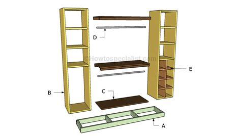 Closet Organizer Plans  Howtospecialist  How To Build