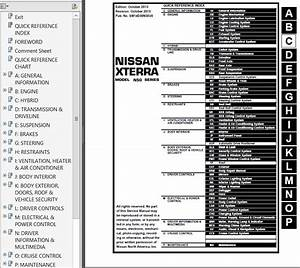 Nissan Xterra Model N50 Series 2014 Service Manual Pdf