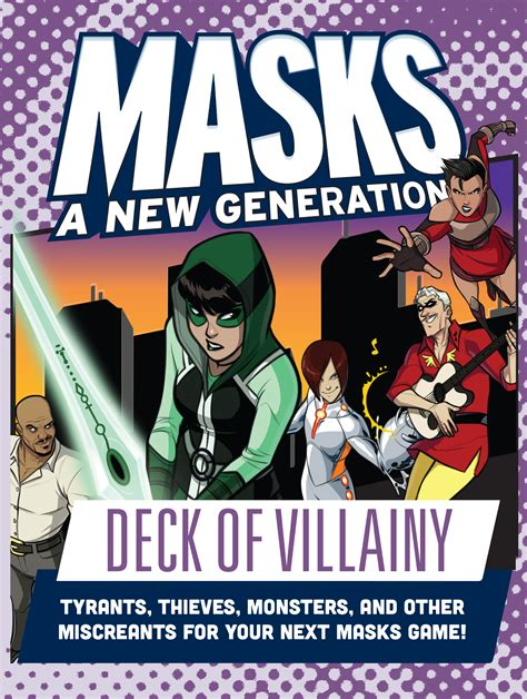 villainy deck masks generation rpg games role playing villains magpie tabletop