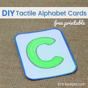 printable diy tactile alphabet cards pre k pages With tactile letter cards