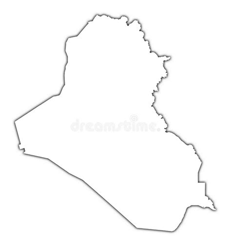 Iraq Outline Map Stock Illustration Illustration Of Black