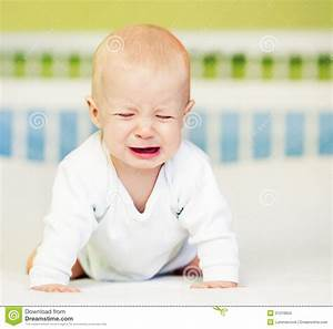Baby Boy Crying stock photo. Image of grimacing, view ...