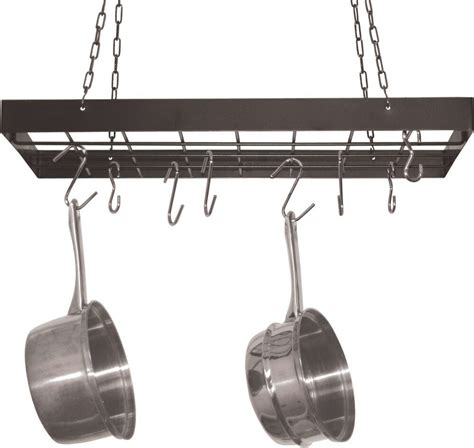 Kitchen Ceiling Pot Hangers by Hanging Pot Rack Hooks Kitchen Ceiling Hanger Storage