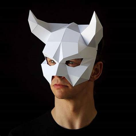paper mask the low poly paper masks ready for your gadgetsin