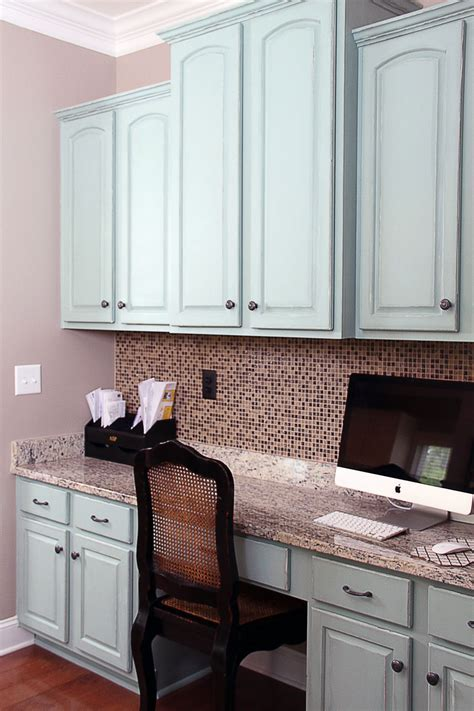 Annie Sloan Duck Egg Blue Painted Kitchen Cabinets