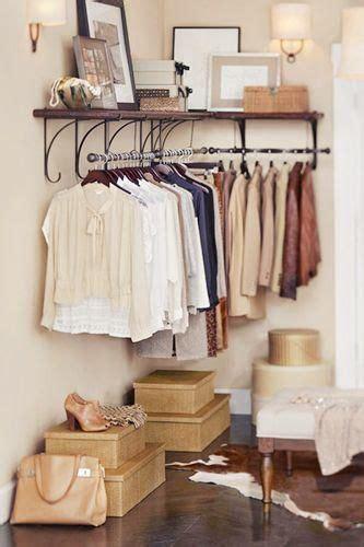 closet closet shelves and cow hide rug on