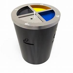Poubelle De Tri Cuisine : geneve poubelle cendrier pour tri s lectif 3 compartiments ~ Dailycaller-alerts.com Idées de Décoration