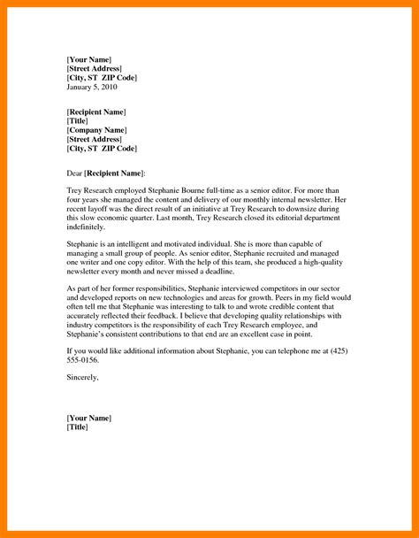 formal letter template world  reference
