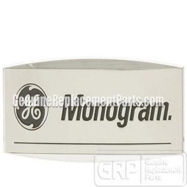 ge part wbx monogram badge logo oem small wadhesive