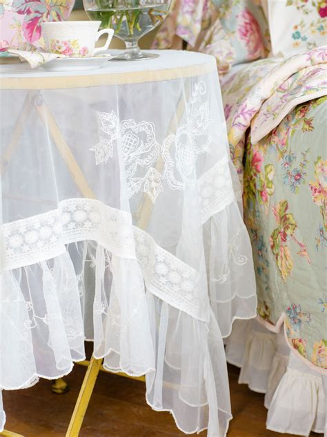 angelic embroidered tablecloth linens kitchen