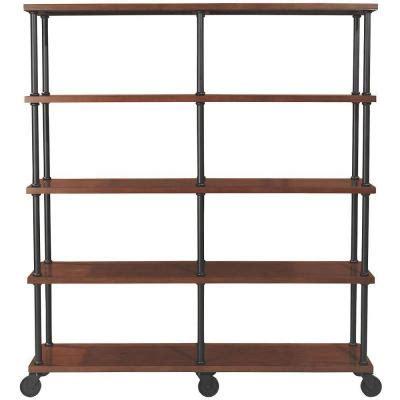 4 shelf open bookcase home decorators collection industrial mansard 4 shelf open