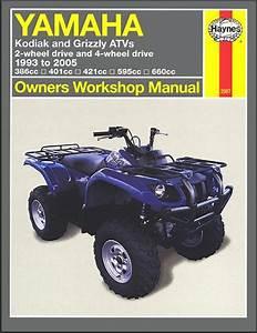 Yamaha Kodiak  Grizzly Atv Repair Manual 1993-2005