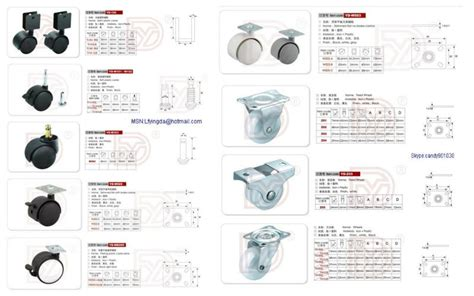 High Quality Different Types Furniture Plastic Casters And