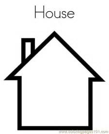 Coloring House by House Coloring Page Free Shapes Coloring Pages