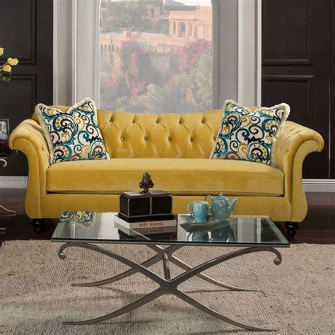 shop furniture  america agatha traditional tufted sofa