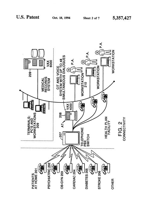 Patent US5357427 - Remote monitoring of high-risk patients