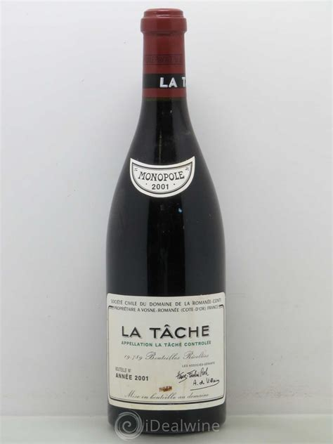 Buy La Tâche Grand Cru Domaine De La Romanéeconti 2001