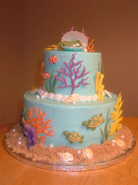 Baby Shower Sea Themed Cake