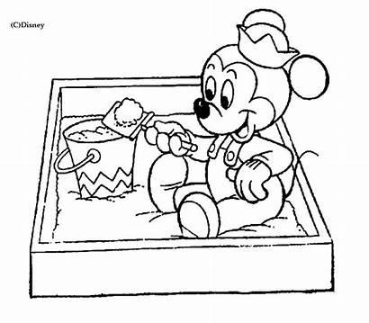 Disney Mickey Pages Coloring Coloriage Bebe Dessin