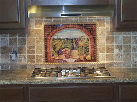 Kitchen Backsplash Murals Decorative Tile Backsplash Kitchen Tile Ideas Tuscan Wine Ii Tile Mural