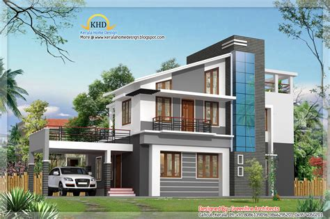 villa house plans modern villa elevations homedesignpictures