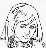 Coloring Pages Cyrus Miley Montana Hannah Famous Printable Celebrities Disney Bieber Justin Adults Filminspector Popular sketch template