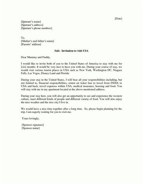 american visa letter  invitation template template