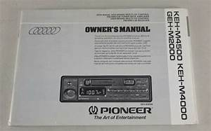 Operating Instructions  Owners Manual Pioneer Car Radio Keh