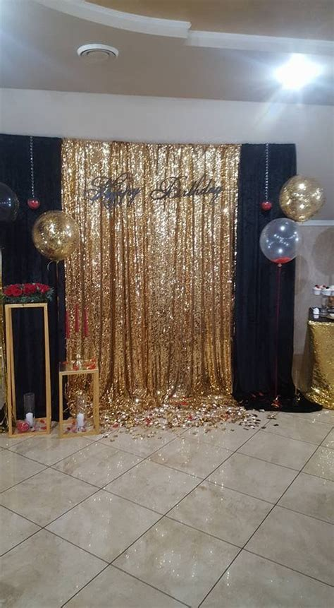gold sequing backdrop christmas holidays ideas
