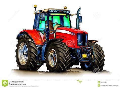 art de couleur dillustration de tracteur agricole