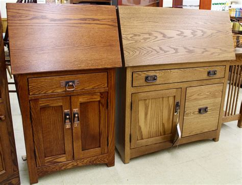 mission large secretary desk with file drawer amish