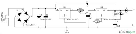 Battery Charger Circuit Diagram Using Power