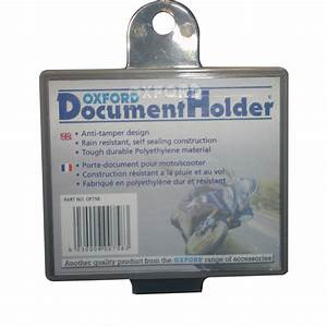 Oxford motorcycle document holder motorbike bike plastic for Motorcycle documents holder