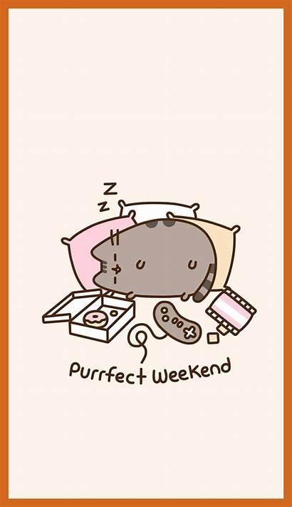Pusheen Cat Cartoon Wallpapers Kawaii Iphone Background
