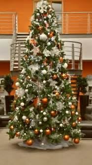 a christmas tree we designed for harley davidson orange silver and brass themed christmas