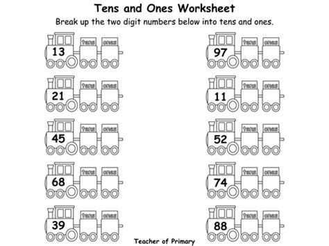 all worksheets 187 tens and units worksheets grade 2
