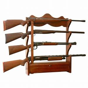 American furniture classics 100 cu ft 4 gun wall rack for Home depot furniture mount