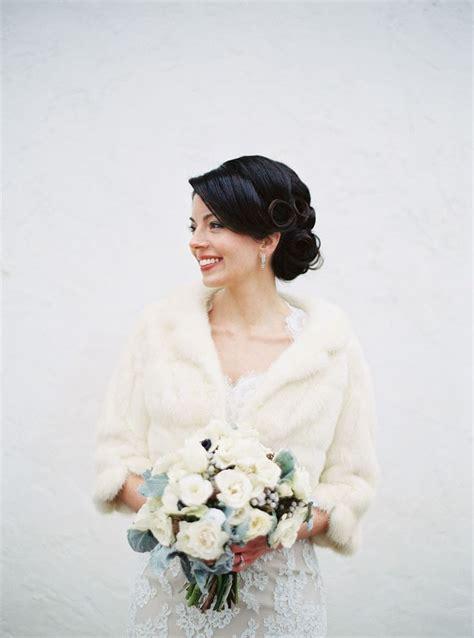 chic vintage winter brides dilemma feather  fur