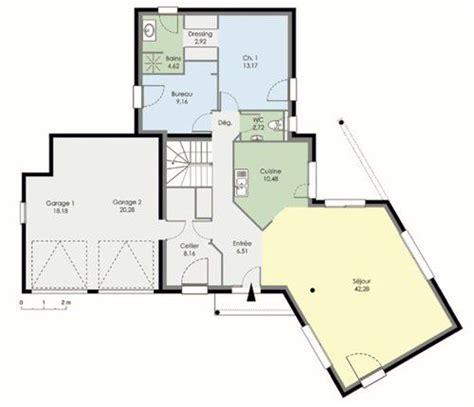 plan maison 3 chambres etage maison contemporaine dé du plan de maison
