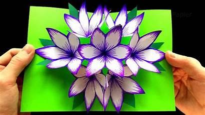 Pop Card Flower 3d Step Tutorial Subscribe