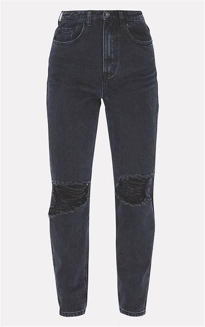 Jeans Mom Knee Ripped Plt Rip Jean