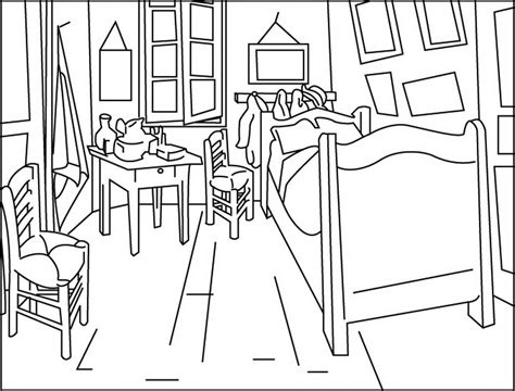chambre amsterdam a dining room coloring pages