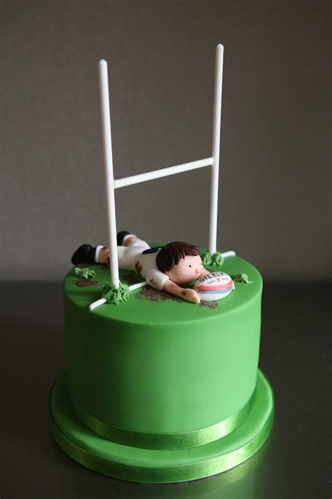 rugby birthday cake afternoon crumbs